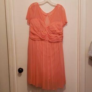 David's Bridal coral dress